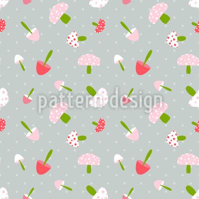 Gepunktete Pilz Schätzchen Muster Design