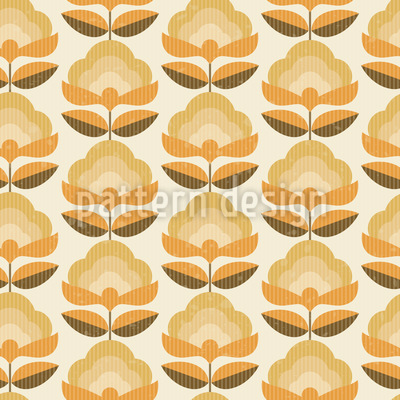 Retro und Floral Nahtloses Muster