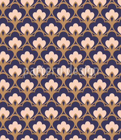 Palmette retro Estampado Vectorial Sin Costura