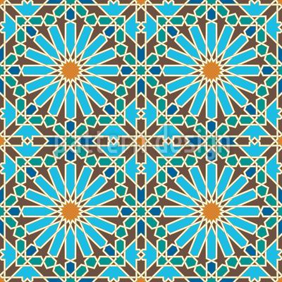 Florales Mosaik Rapport