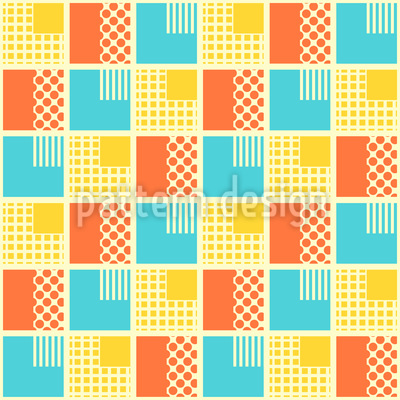 Geometrisches Patchwork Nahtloses Vektor Muster