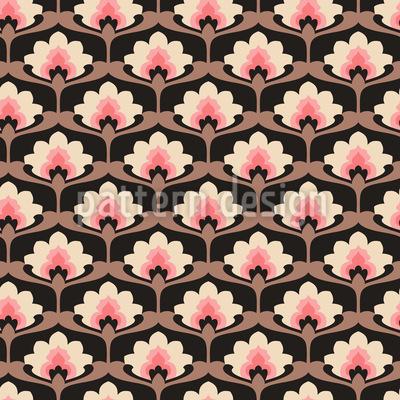 Palmette de flores Estampado Vectorial Sin Costura