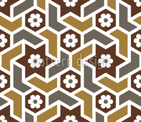 Moroccan Blossom Mosaic Pattern Design