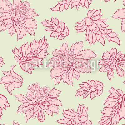 Barock Blüte Pastell Nahtloses Vektormuster