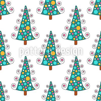 Winter Bäume Vektor Muster