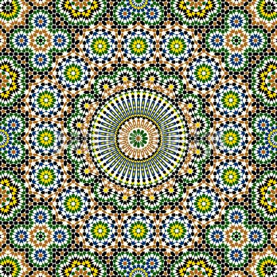 Riad Fantasie Nahtloses Vektormuster