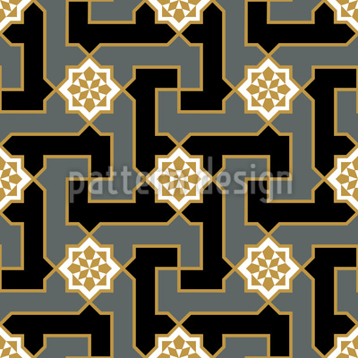 Blossom Maze Repeat Pattern