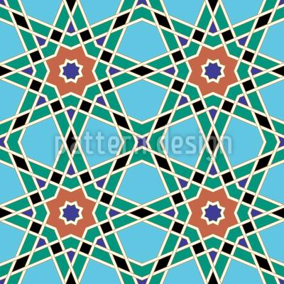 Marokkanisches Stern Gitter Nahtloses Vektor Muster