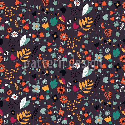 Mille Fleurs Garten Nahtloses Muster