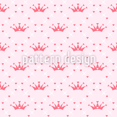 Süße Krone Rapportiertes Design