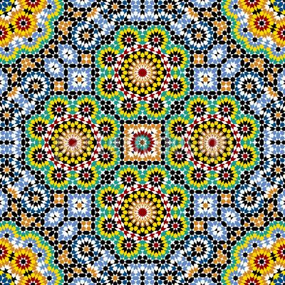 Marokko Mosaik Nahtloses Vektormuster