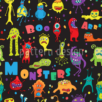 Monster-Party Musterdesign