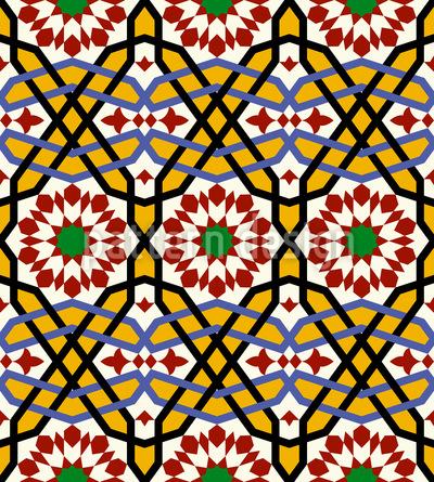 Ein Riad In Marrakesch Nahtloses Vektormuster