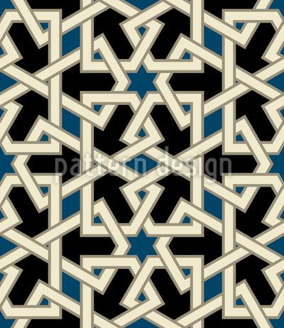 Oriente Médio Beleza Design de padrão vetorial sem costura