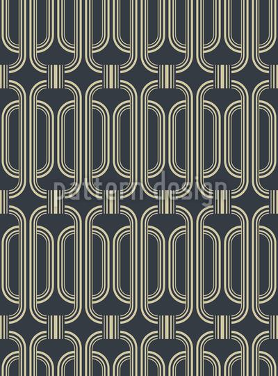 Elegância vintage Design de padrão vetorial sem costura
