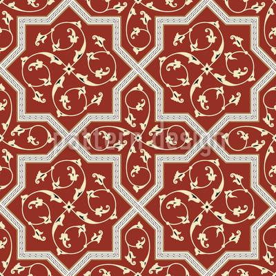 Medieval Splendor Seamless Vector Pattern Design