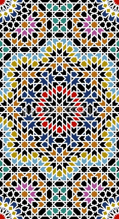 Marrocos antigo Design de padrão vetorial sem costura