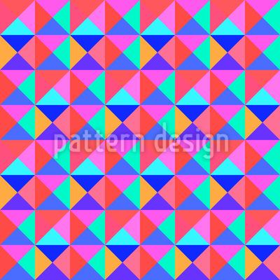 Lebendige Dreiecke Rapportmuster