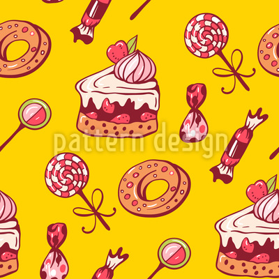 Süsse Desserts Muster Design