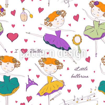 Kleine Ballerina Nahtloses Muster
