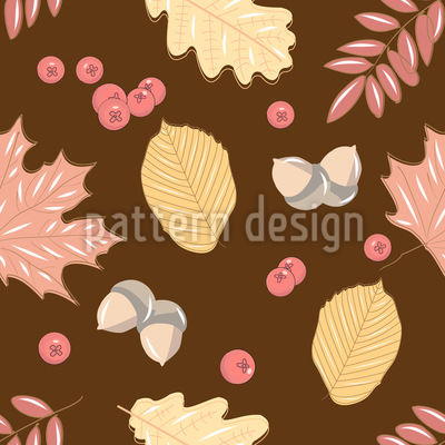 Eicheln Blätter und Beeren Vektor Design