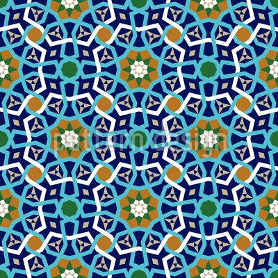 Lattice marroquino Design de padrão vetorial sem costura
