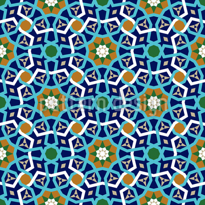 Moroccan Lattice Seamless Vector Pattern Design