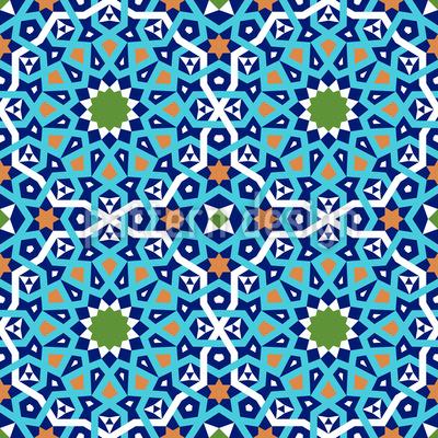 Moorish Connections Seamless Vector Pattern Design