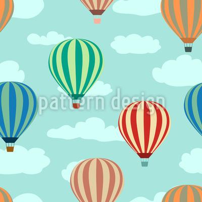 Passeio de Balão Design de padrão vetorial sem costura