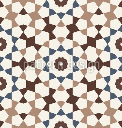 Maurisches Mosaik Nahtloses Vektormuster