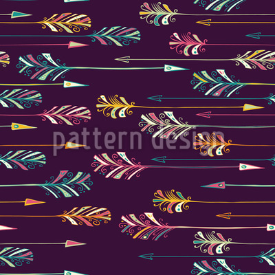 Feather Arrows Seamless Vector Pattern Design