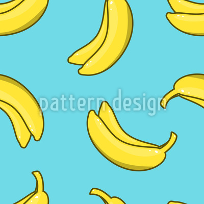 Banane Nahtloses Vektor Muster