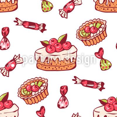 Süße Bonbons Nahtloses Vektormuster