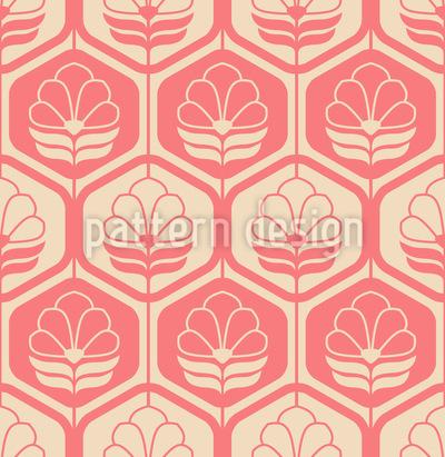 Vintage Blumenornamente Musterdesign
