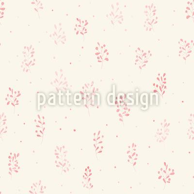 Zarte Aquarell Blumen und Zweige Nahtloses Muster