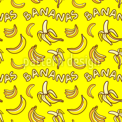 I Love Bananas Seamless Vector Pattern Design