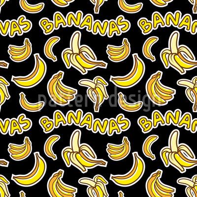 クレイジー・バナナ シームレスなベクトルパターン設計
