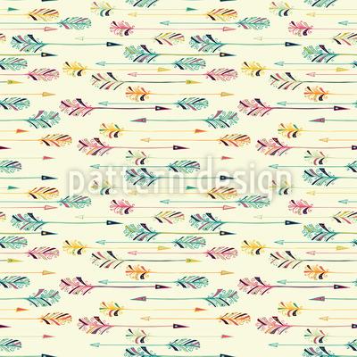 Verzierte Feder-Pfeile Muster Design