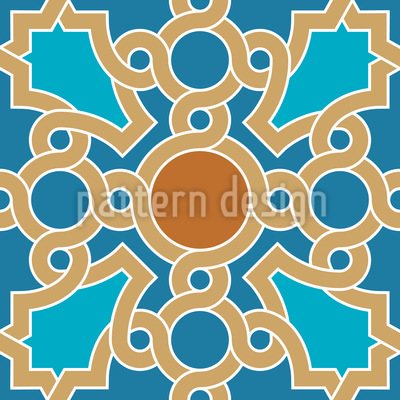 Oriental Ceiling Painting Seamless Vector Pattern Design