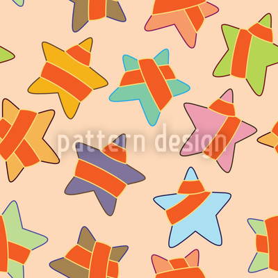 Starlets Seamless Vector Pattern Design