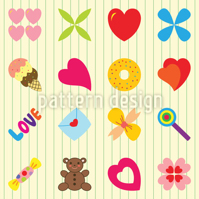 Nur Für Dich Muster Design