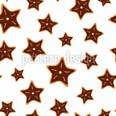 Cookies em forma de estrela Design de padrão vetorial sem costura