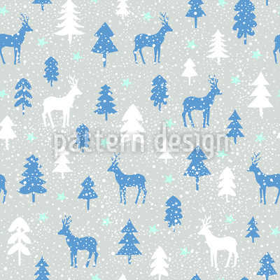 Snowfall In The Forest Pattern Design