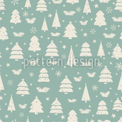 Tannenbäume Nahtloses Muster