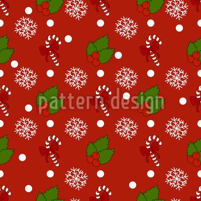 Decoração festiva Design de padrão vetorial sem costura