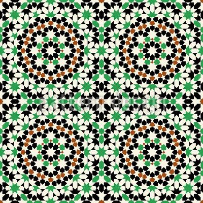 Islamisches Mosaik Vektor Design