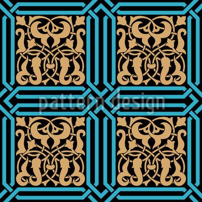 Antike Intarsien Nahtloses Vektormuster
