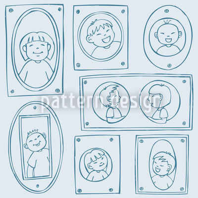 Picture Frames Seamless Vector Pattern Design