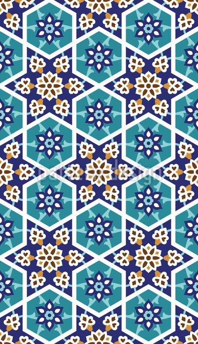 Moorish Star Seamless Vector Pattern Design