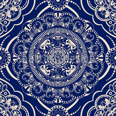 Traditional Emblems Pattern Design